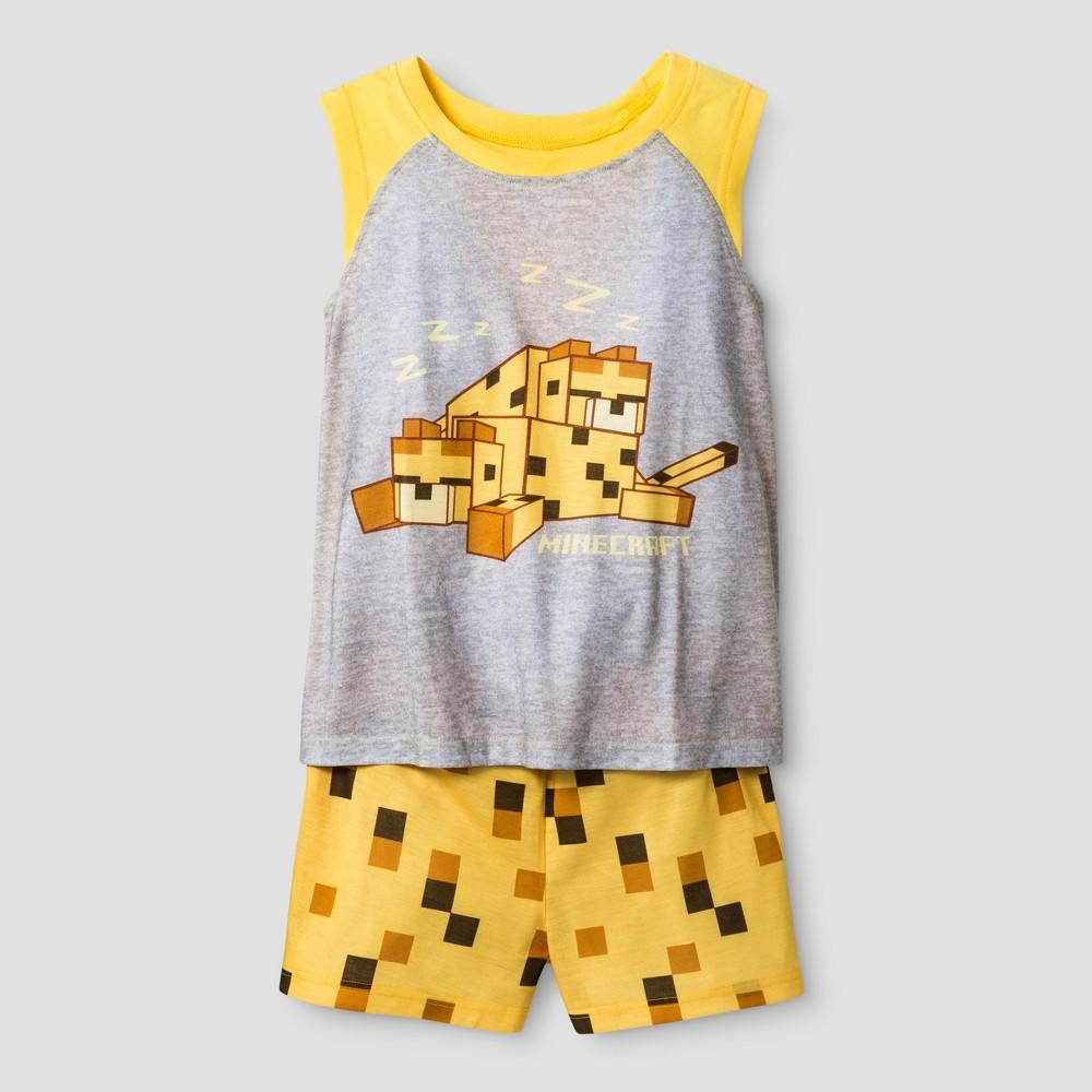 Girls Minecraft Pajama Set - Yellow S
