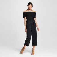 Women's Smocked OTS Jumpsuit - Xhilaration (Juniors') Black. opens in a new tab.