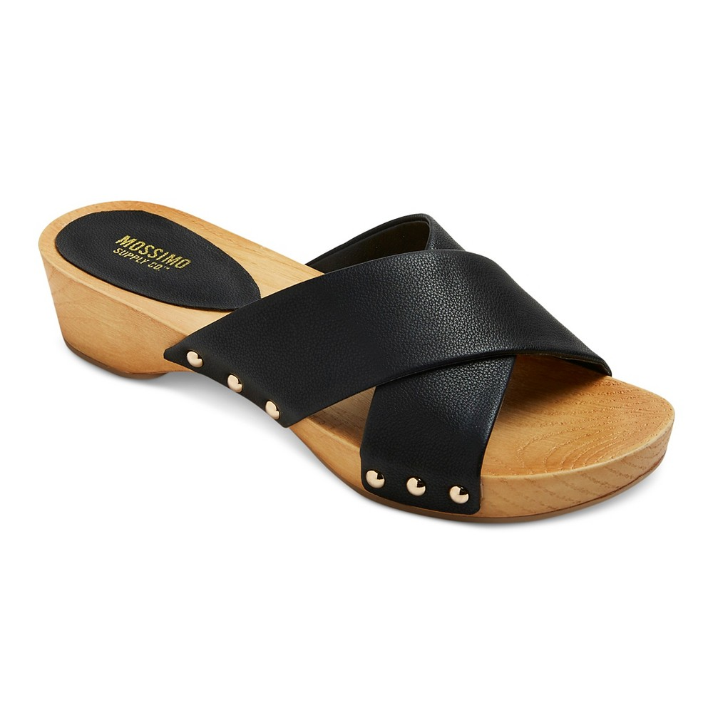 Womens Holly Cross Strap Clog Slide Sandals - Mossimo Supply Co. Black 7