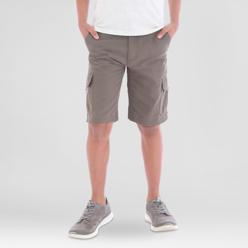 Wrangler Boys Explore Outdoor Cargo Shorts Brown 10