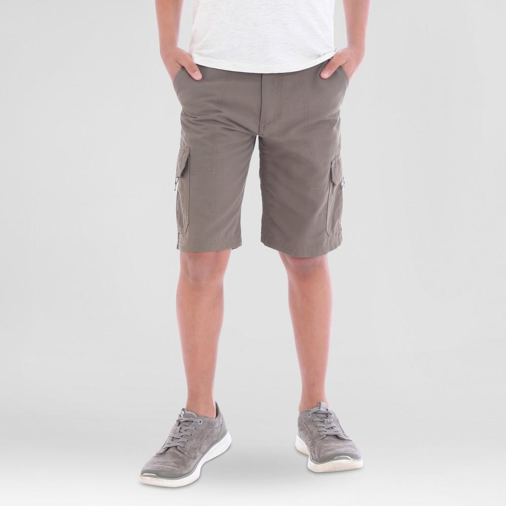 Big & Tall Wrangler Boys Explore Outdoor Cargo Shorts Brown 10 Husky