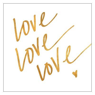 Love Love Love (gold foil)Unframed Wall Art Print
