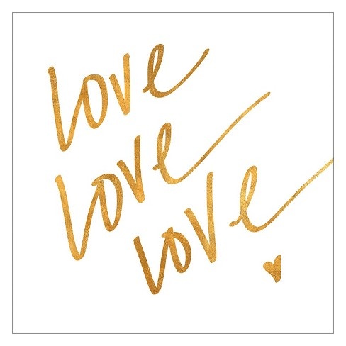Love Love Love (gold foil) Unframed Wall Art Print - image 1 of 2