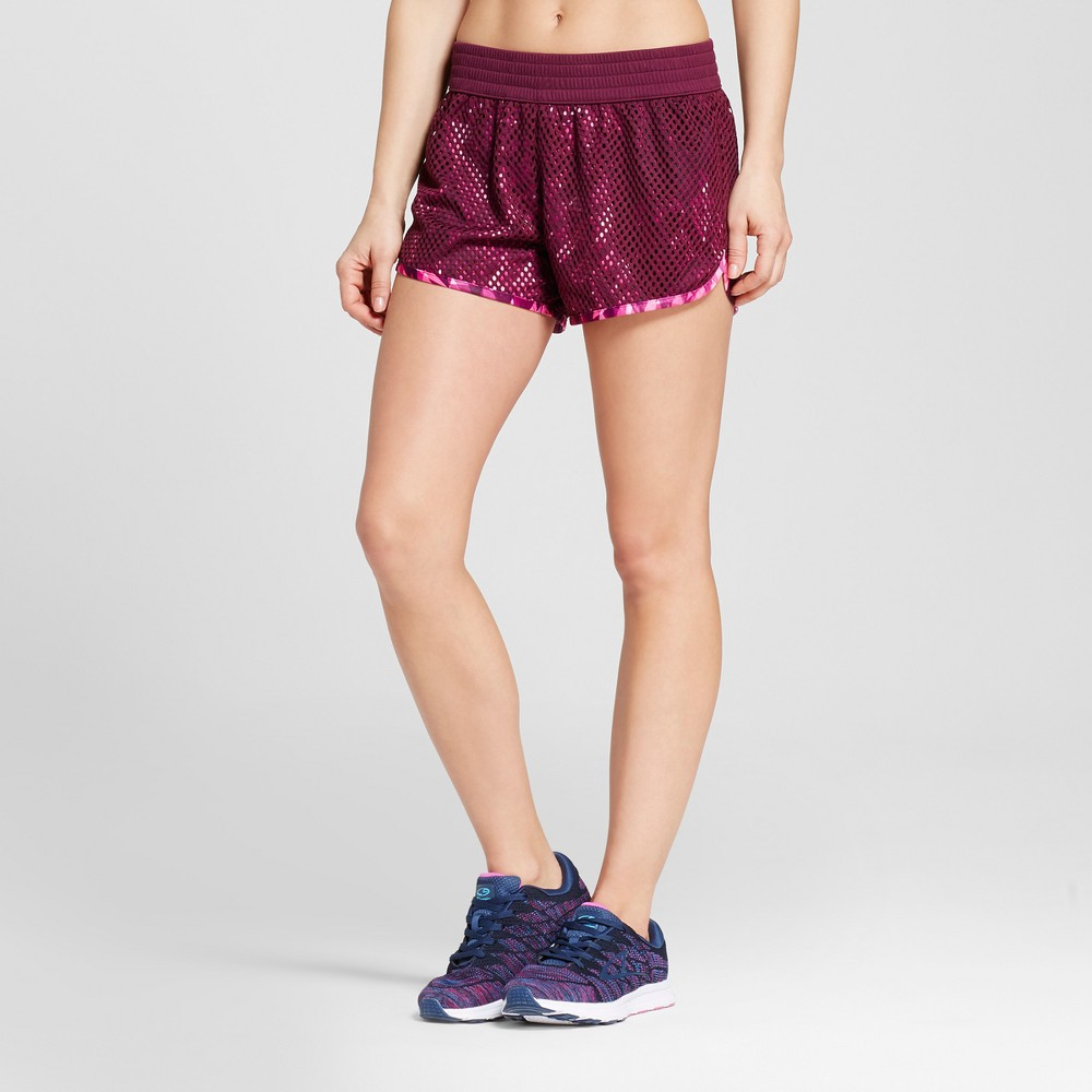 Women's Mesh Shorts - C9 Champion - Purple L, Dark Berry