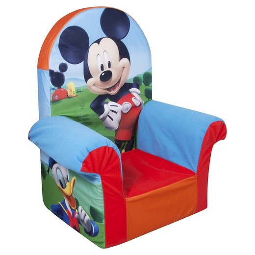 $24.99 - Mickey Mouse Children's Foam High Back Chair Marshmallow Furniture