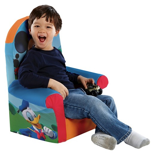 Mickey Mouse Childrens Foam High Back Chair Marshmallow Furniture