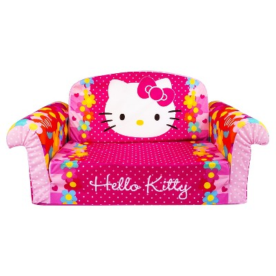 Marshmallow Furniture Children's 2 in 1 Flip Open Foam Sofa - Hello Kitty by Spin Master