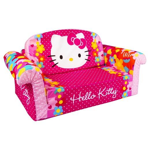 Marshmallow Furniture Children 39 S 2 In 1 Flip Open Foam Sofa Hello Kitty