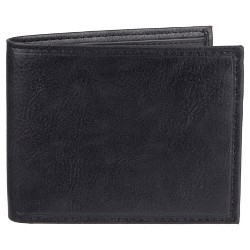 Wemco™ Men's Stitch And Crease Traveller Wallet - Black