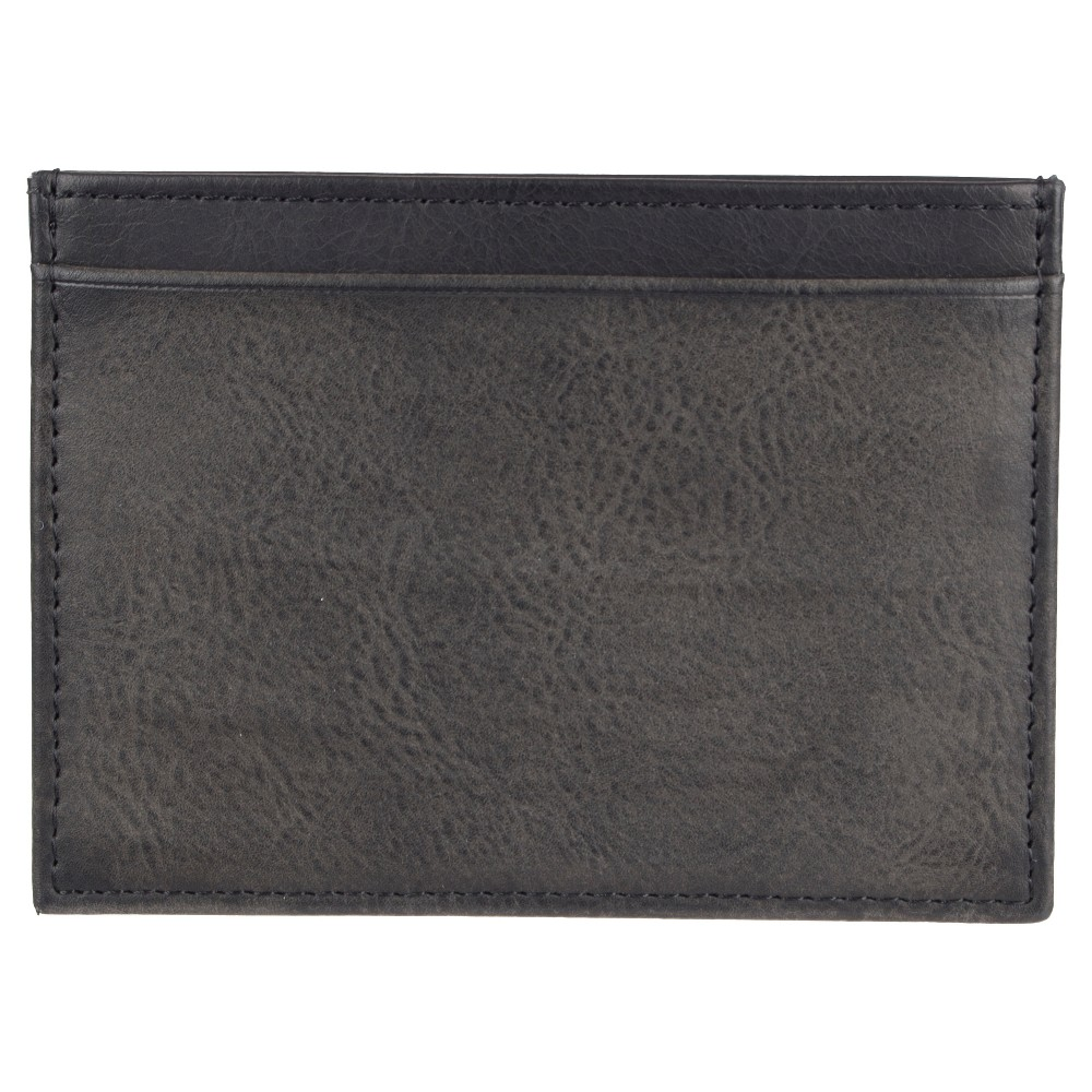 Wemco Mens Get Away Card Case Business Card Wallet - Black/Gray