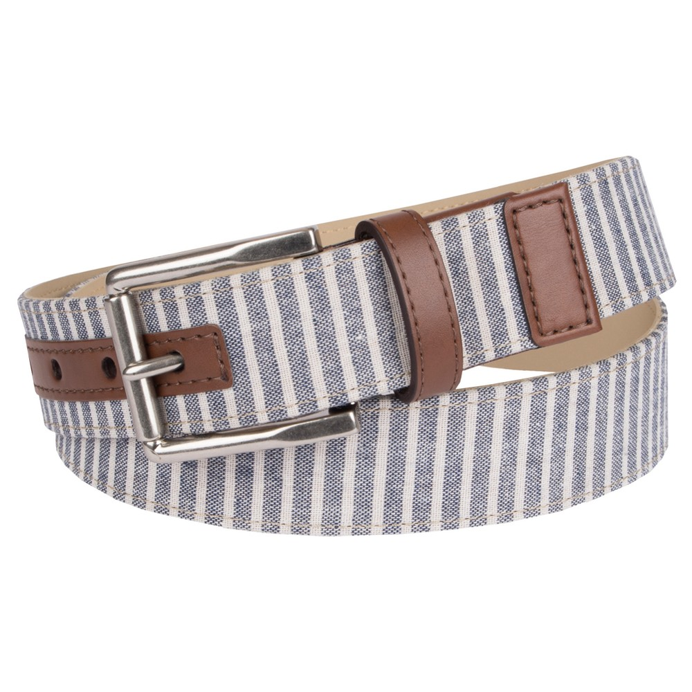 Mens 35mm Non Reversible Belt With English Tab - Merona XL, Size: XL (40-44), Multicolored