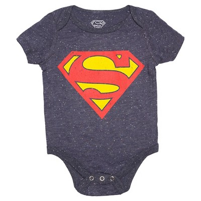 Baby Boys' Superman Bodysuit Navy NB - DC Comics®