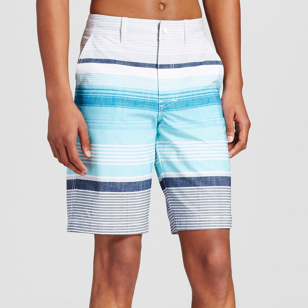 Mens Hybrid Swim Shorts - Mossimo Supply Co. Aqua 32, Blue