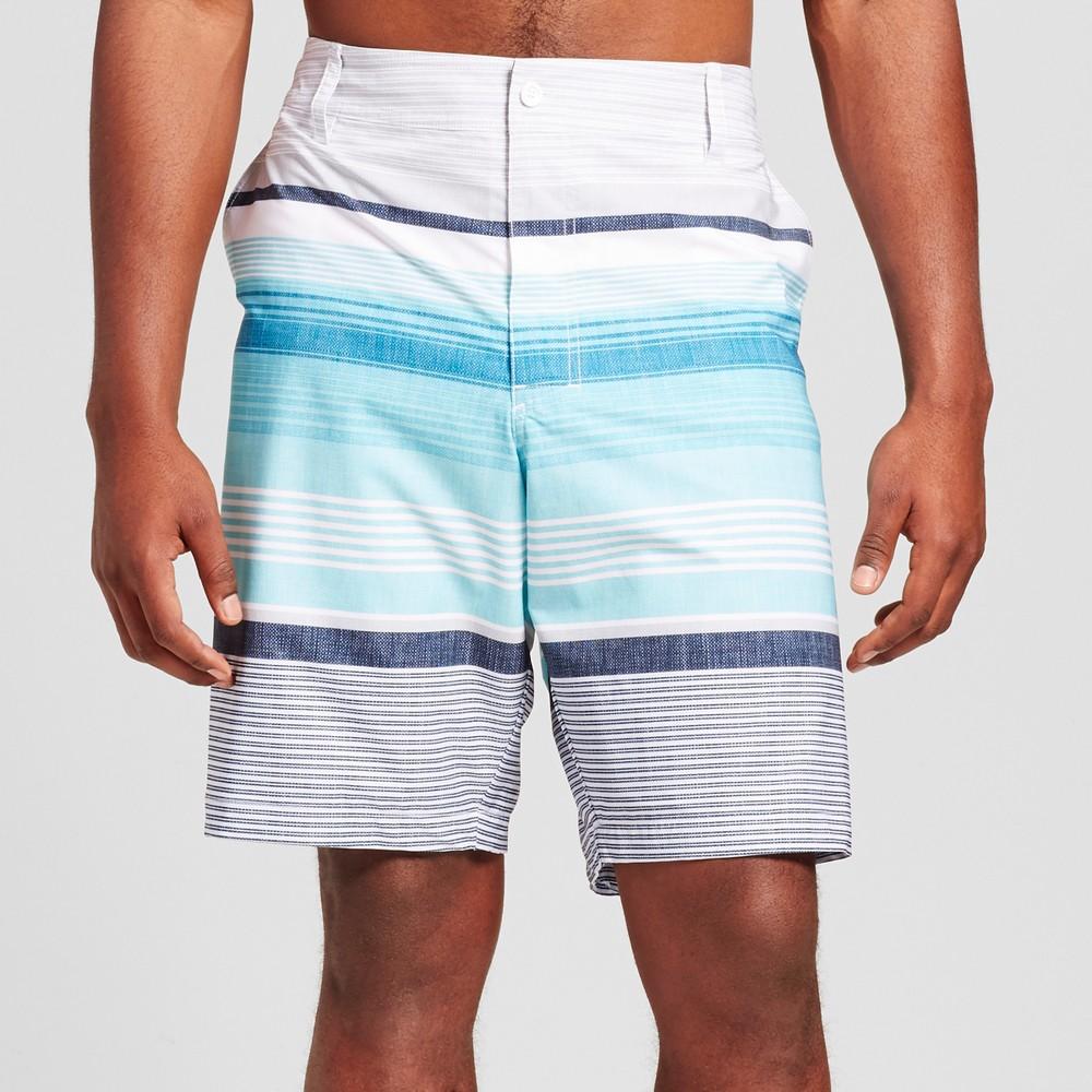 Mens Big & Tall Hybrid Swim Shorts - Mossimo Supply Co. Aqua 46, Blue