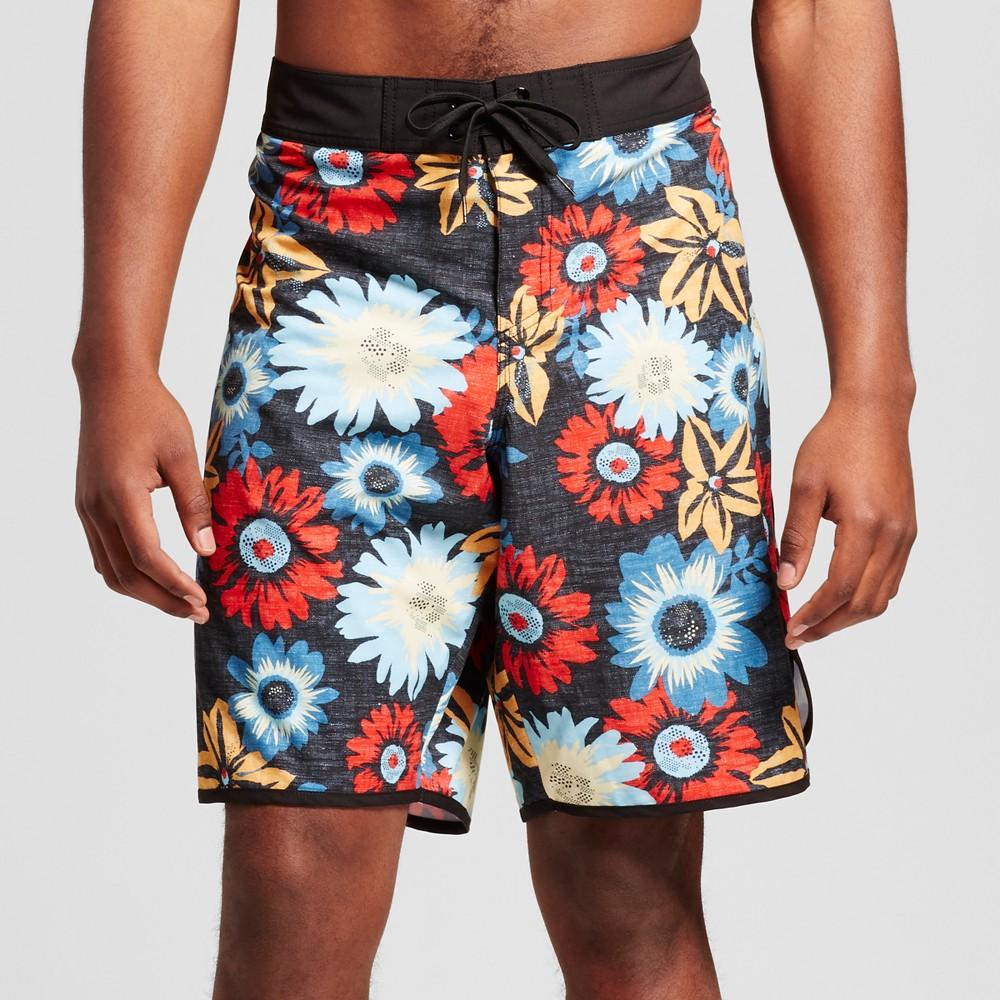 Mens Big & Tall Board Shorts Black - Mossimo Supply Co. 56