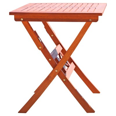 Vifah Outdoor Eucalyptus Wood Folding Bistro Table - Brown