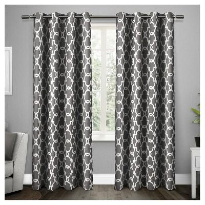 gates sateen woven room darkening grommet top window curtain panel pair exclusive home