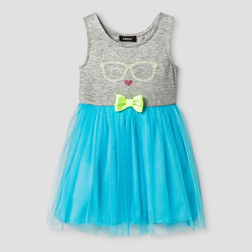 Zenzi Toddler Girls Sleeveless A Line Dress - Turquoise 2T, Blue