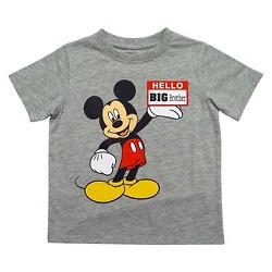 Mickey Mouse Toddler Boys' Big Bro T-Shirt - Gray