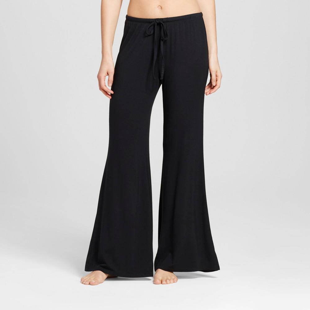Womens Wide Leg Pajama Pants - Total Comfort - Black L - Tall, Size: L Long