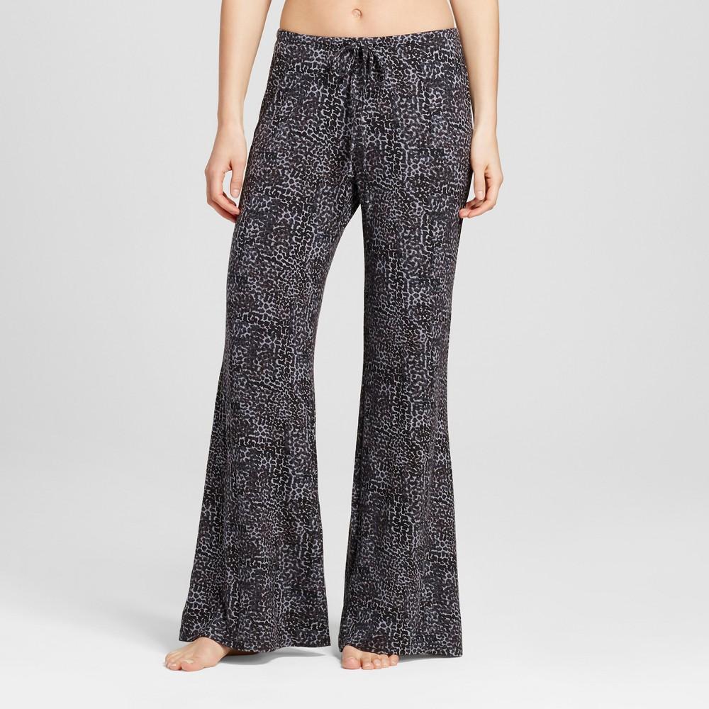 Womens Wide Leg Pajama Pants - Total Comfort Black L
