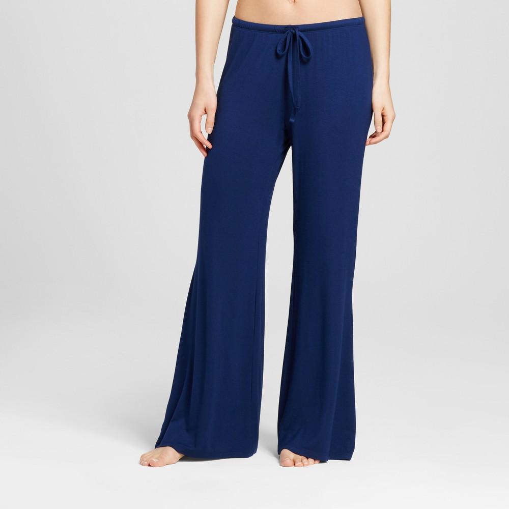 Womens Wide Leg Pajama Pants - Total Comfort - Nighttime Blue XS - Shorts, Size: XS Short