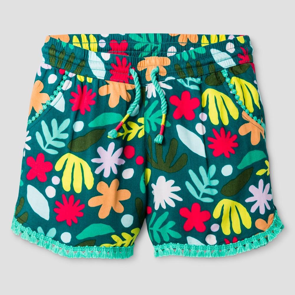 Plus Size Girls' Fashion Shorts - Cat & Jack Green XL Plus