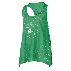 NCAA Michigan State Spartans Girls' Cinched Racerback Constellation Tank Top