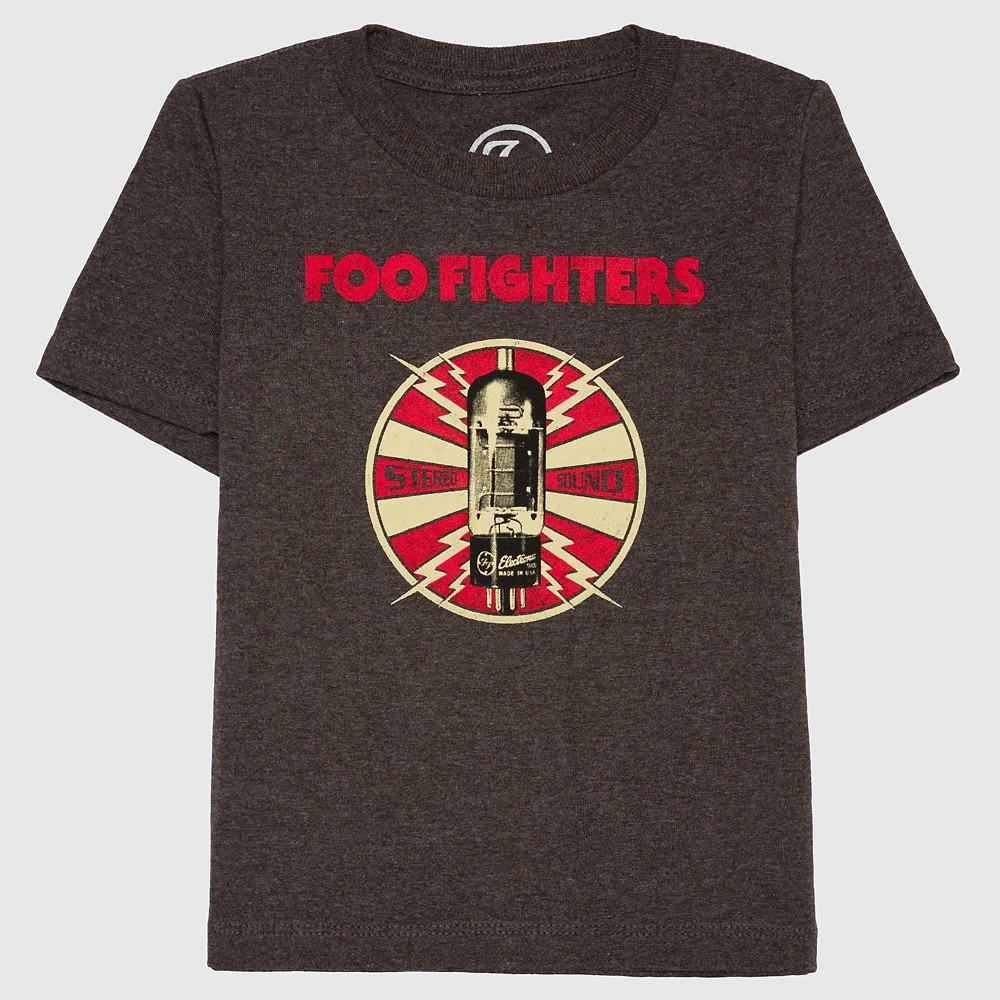 Toddler Boys Foo Fighters T-Shirt - Charcoal Heather 3T, Gray