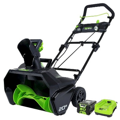 Greenworks 2600402 80v Pro 20  Cordless Snow Thrower, (1)2ah Battery & Charger