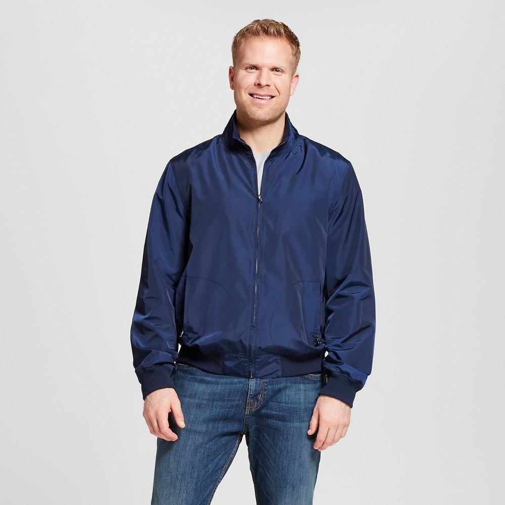 Mens Big & Tall Nylon Harrington Jacket - Merona Navy 4XB Tall, Size: 4XBT, Blue
