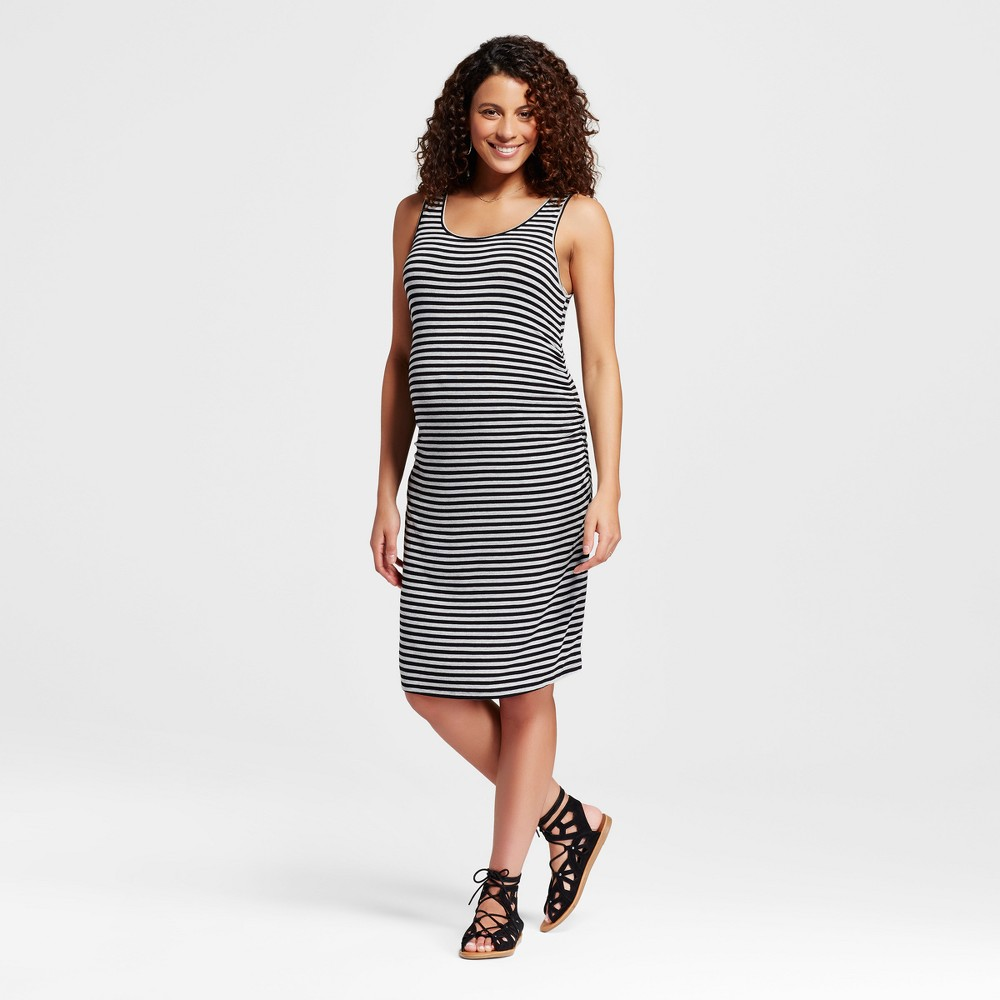 Maternity Body Con Striped Tank Dress Black M – Liz Lange for Target, Women's