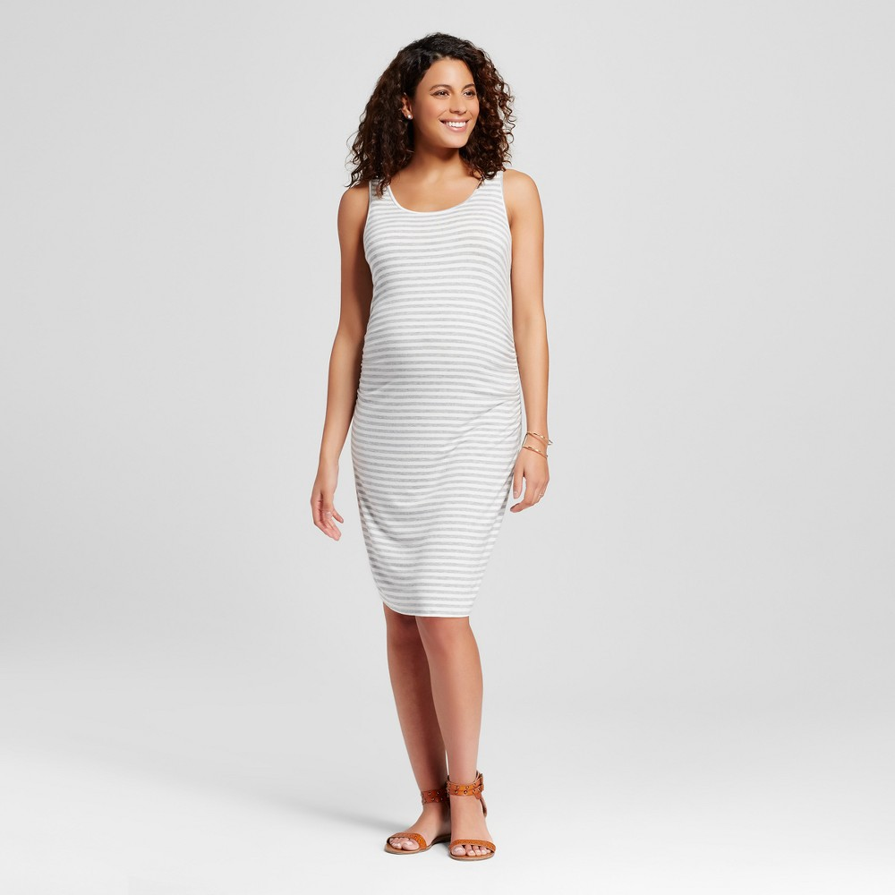 Maternity Body Con Striped Tank Dress Grey M – Liz Lange for Target, Women's