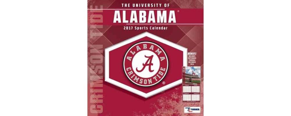 University of Alabama Crimson Tide 2017 Sports Calendar (Paperback)