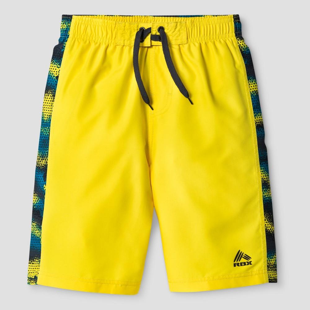 Rbx Boys Solid Swim Trunk Yellow XL