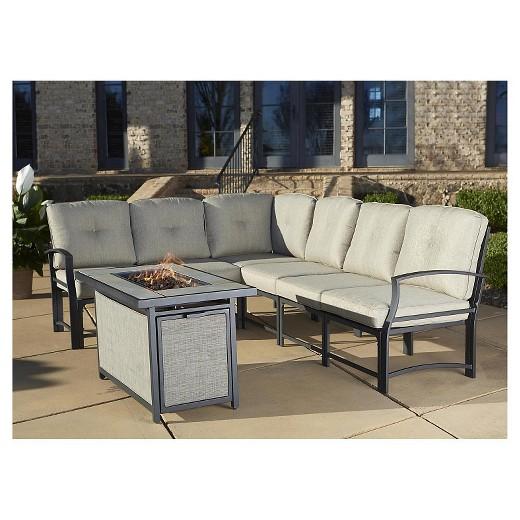 Patio Furniture 7 Piece Set serene ridge 7 piece aluminum outdoor sofa sectional patio