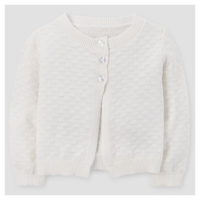 Baby Girls' Long Sleeve Sweater - Just One You™ Made by Carter's® Off White NB