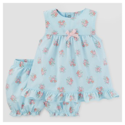 Baby Girls' Ruffled Top and Bloomer Set - Just One You™ Made by Carter's® Blue/Pink 6M