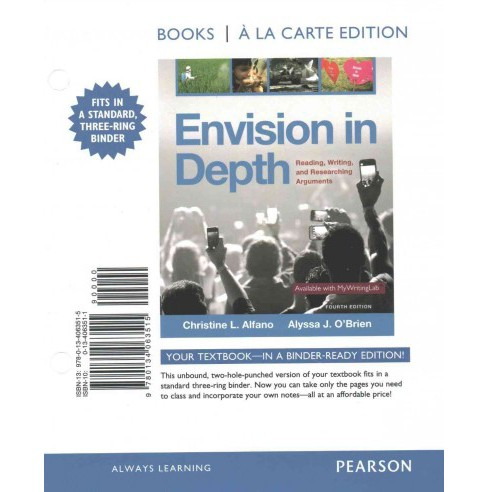 Envision in Depth : Reading, Writing, and Researching Arguments (Paperback) (Christine L. Alfano & - image 1 of 1