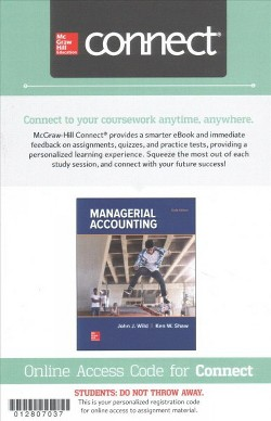 Managerial Accounting Connect Access Card (Hardcover) (John Wild)