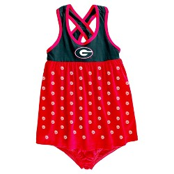 NCAA Georgia Bulldogs Baby Girls' Crossback Dress & Bloomers Set