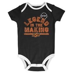 NCAA Oklahoma State Cowboys Boys' Baby 3pk Bodysuits