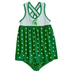 NCAA Michigan State Spartans Baby Girls' Crossback Dress & Bloomer Set