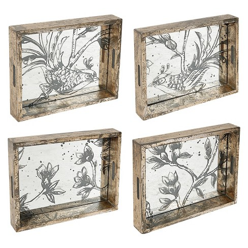 Fontanne Decorative Trays Medium - Set of 4 - A&B Home - image 1 of 1