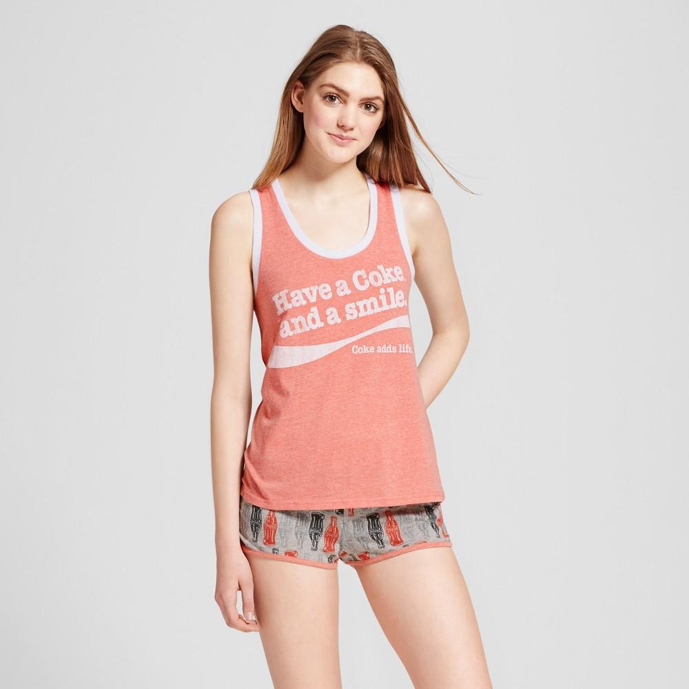 Coca-Cola Womens Pajama Set - Red XL