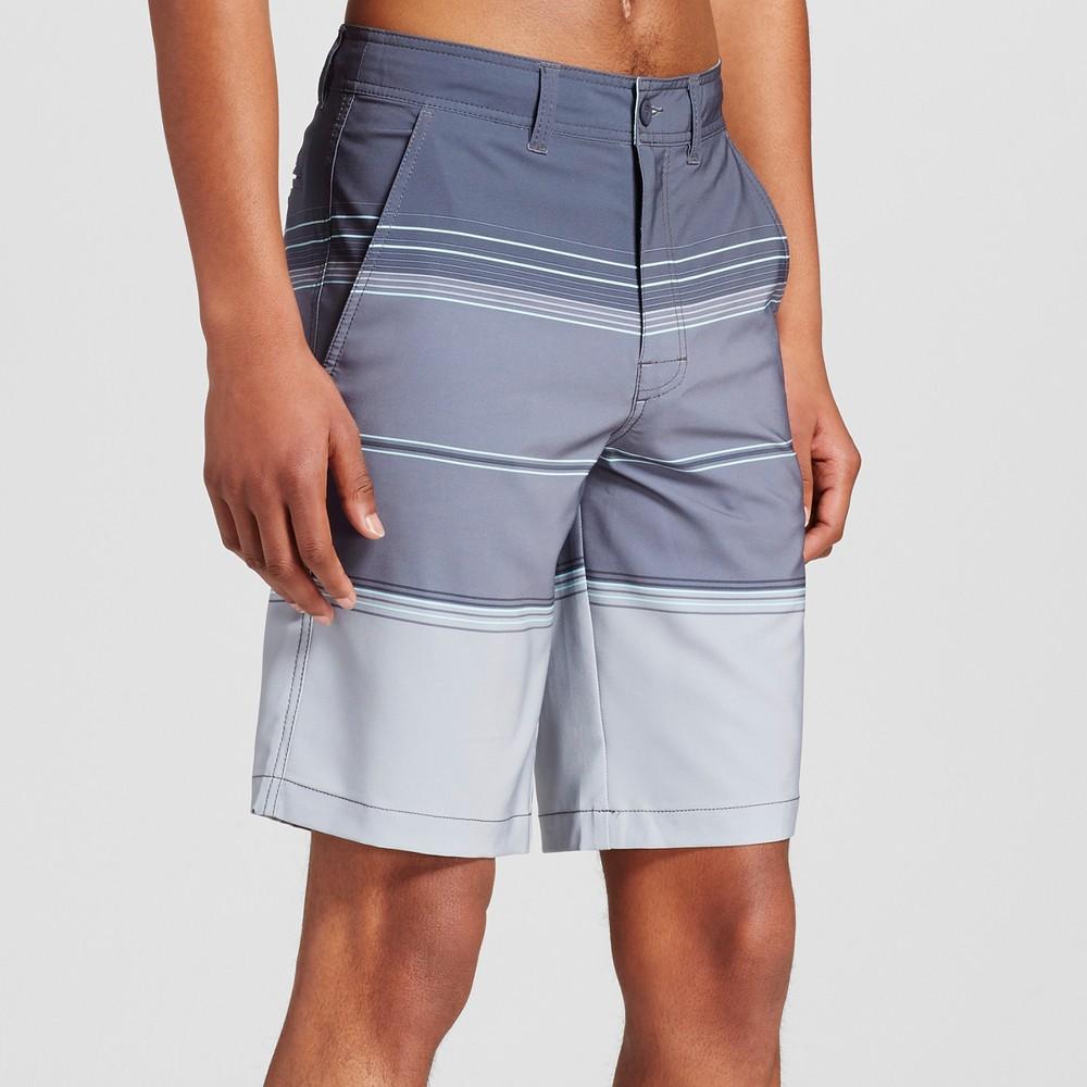 Mens Stripe Hybrid Swim Shorts - Mossimo Supply Co. Gray 42