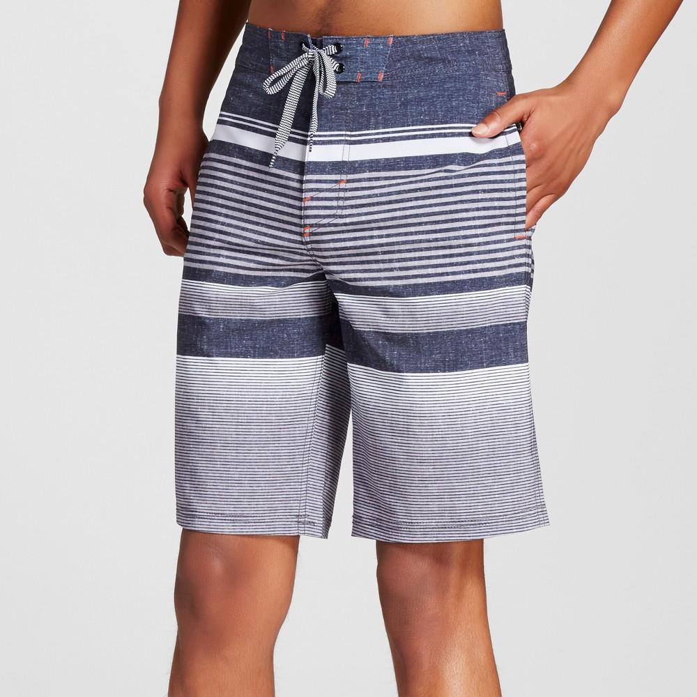 Mens Stripe Board Shorts - Mossimo Supply Co. Black 42