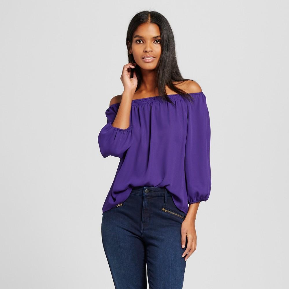 Cute purple off the shoulder top Target affiliate link