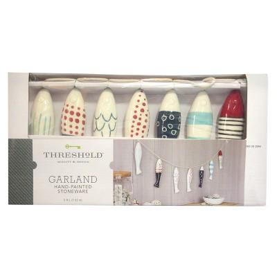 Fish Stoneware Hand-painted Garland - Threshold™