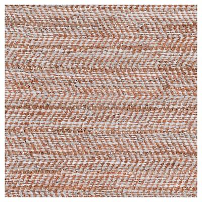Aqua Solid Woven Area Rug - (8'X10') - Surya, Blue/Orange